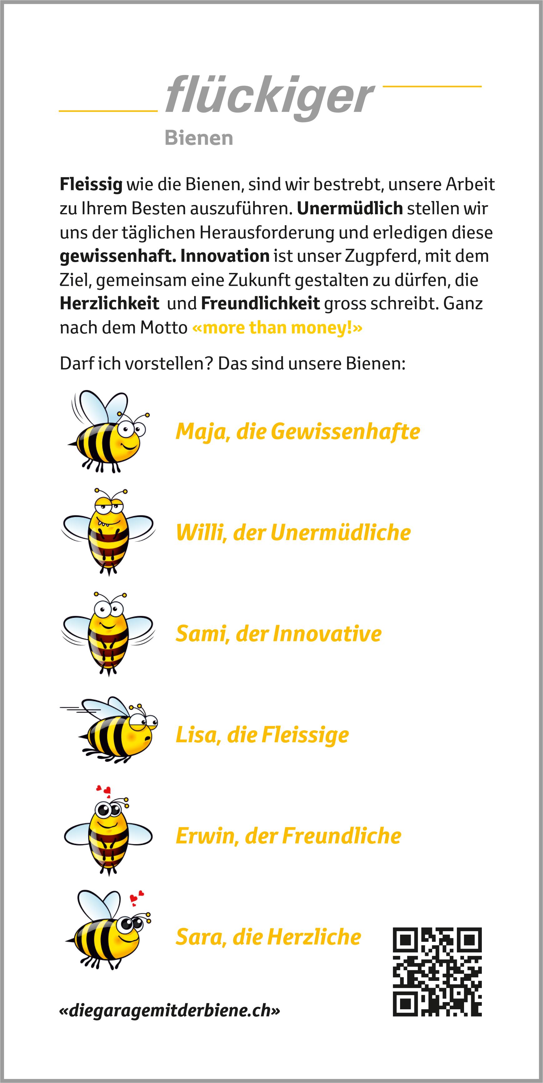 flückiger «Die Garage mit der Biene»